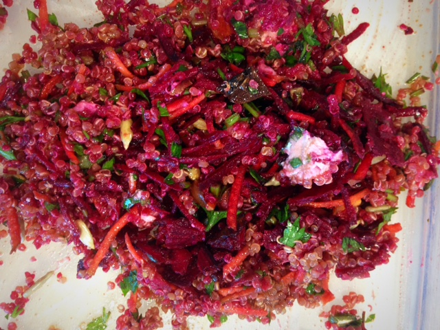 beetroot & quinoa salad